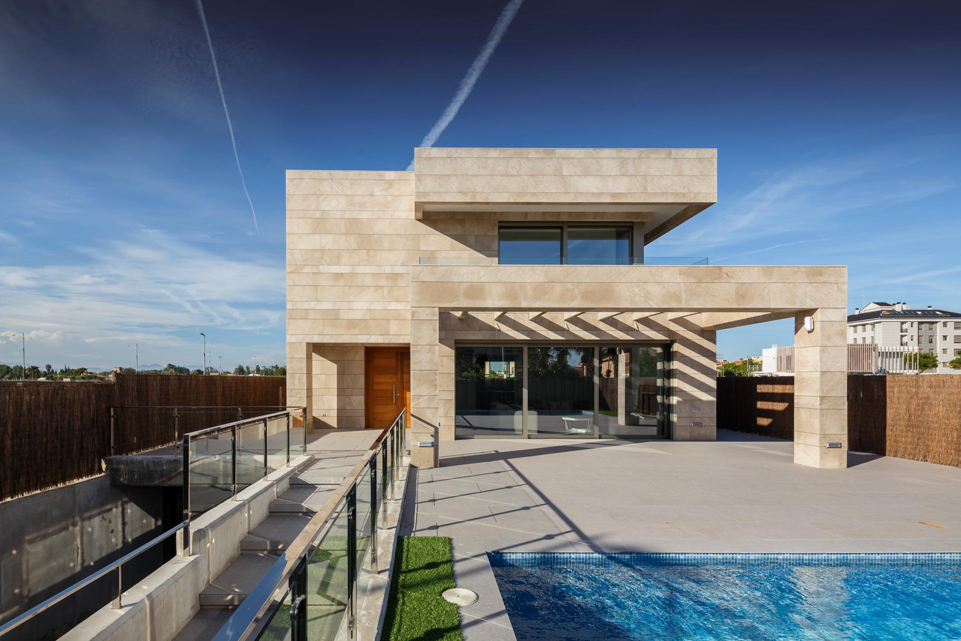 Fachada_Vivienda unifamiliar_arquitectos valencia_ Burriana_ Proyectos